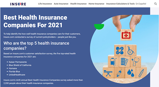 Best Health Insurance Companies for 2021